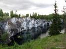 Мраморный каньон Рускеалы летом